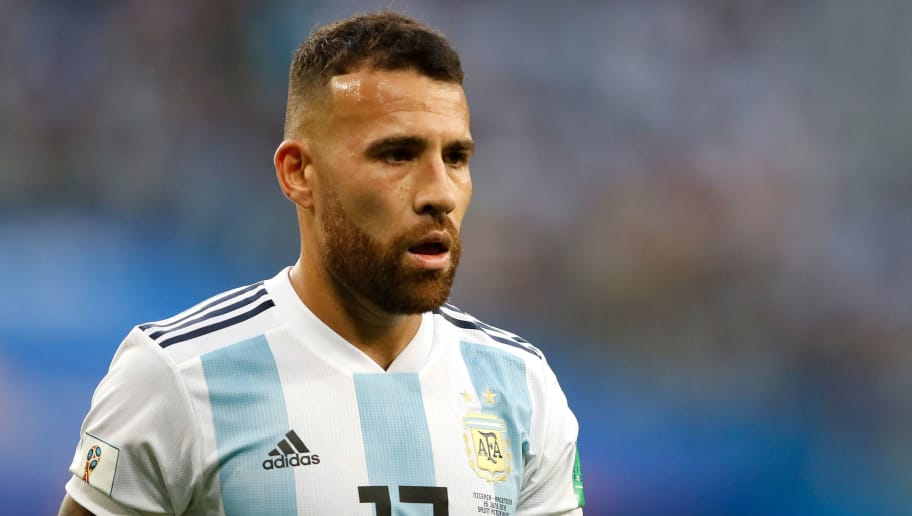 SAINT PETERSBURG, RUSSIA - JUNE 26:  Nicolas Otamendi of Argentina looks on during the 2018 FIFA World Cup Russia group D match between Nigeria and Argentina at Saint Petersburg Stadium on June 26, 2018 in Saint Petersburg, Russia.  (Photo by Julian Finney/Getty Images)