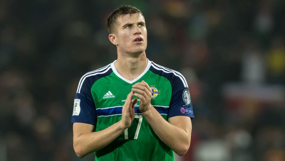Hannover, Deutschland, 11.10.2016, WM-Qualifikation 2016/2017, Gruppe C, Deutschland - Nordirland, enttaeuscht, enttaeuschung, Paddy McNair (GBR)  (Photo by TF-Images/Getty Images)