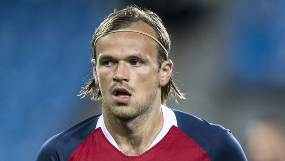 OSLO, NORWAY - SEPTEMBER 06: Iver Fossum of Norway  during the UEFA Nations League C group three match between Norway and Cyprus at Ullevaal Stadion on September 6, 2018 in Oslo, Norway. (Photo by Trond Tandberg/Getty Images)