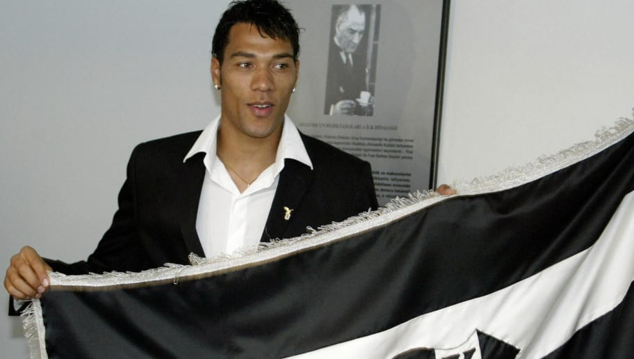 Norwegian striker John Carew poses with