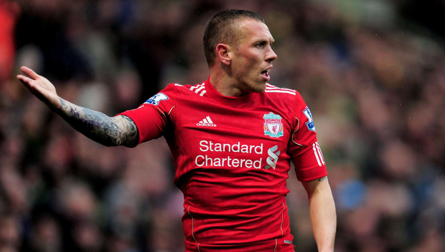 NORWICH, ENGLAND - APRIL 28:  Craig Bellamy of Liverpool gestures during the Barclays Premier League match between Norwich City and Liverpool at Carrow Road on April 28, 2012 in Norwich, England.  (Photo by Jamie McDonald/Getty Images)