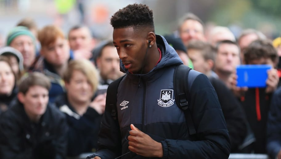 NORWICH, ENGLAND - FEBRUARY 13: Reece Oxford of West Ham United is seen on arrival at the stadium prior to the Barclays Premier League match between Norwich City and West Ham United at Carrow Road on February 13, 2016 in Norwich, England.  (Photo by Stephen Pond/Getty Images)