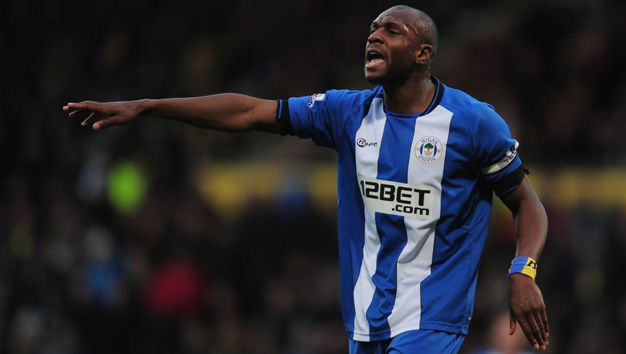 NORWICH, ENGLAND - DECEMBER 15:  Emmerson Boyce of Wigan in action during the Barclays Premier League match between Norwich City and Wigan Athletic at Carrow Road on December 15, 2012 in Norwich, England.  (Photo by Jamie McDonald/Getty Images)
