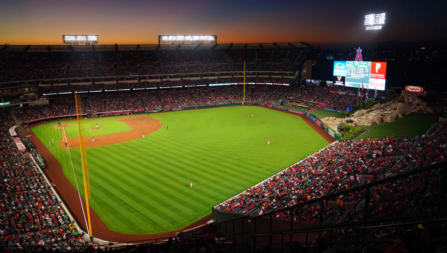 ANAHEIM, CA - SEPTEMBER 29:  A general view of Angel Stadium during the game against the Oakland Athletics at Angel Stadium on September 29, 2018 in Anaheim, California.  (Photo by Masterpress/Getty Images)