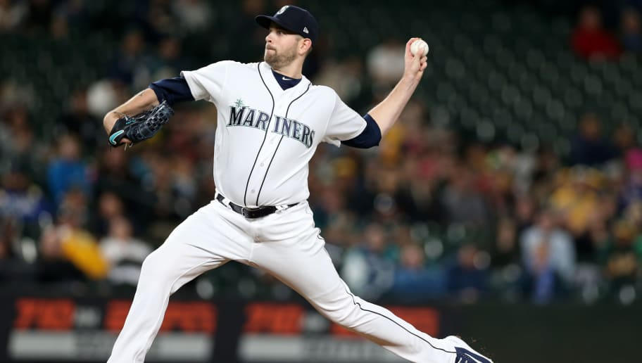 SEATTLE - SEPTEMBER 24:  James Paxton #65 of the Seattle Mariners pitches during the game against the Oakland Athletics at Safeco Field on September 24, 2018 in Seattle, Washington.  The Athletics defeated the Mariners 7-3.  (Photo by Rob Leiter/MLB Photos via Getty Images)