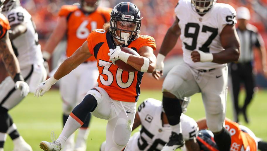 948ddfbe55c Broncos Hall of Famer Backs Phillip Lindsay as Denver s Breakout Back