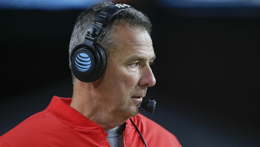 WEST LAFAYETTE, IN - OCTOBER 20: Head coach Urban Meyer of the Ohio State Buckeyes is seen during the game against the Purdue Boilermakers at Ross-Ade Stadium on October 20, 2018 in West Lafayette, Indiana. (Photo by Michael Hickey/Getty Images)