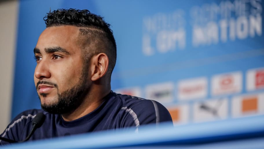 MARSEILLE, FRANCE - NOVEMBER 10:  Dimitri Payet of Marseille speaks to the media during a press conference on at centre RLD on November 10, 2018 in Marseille, France.  (Photo by Guillaume Ruoppolo - OM/Getty Images)