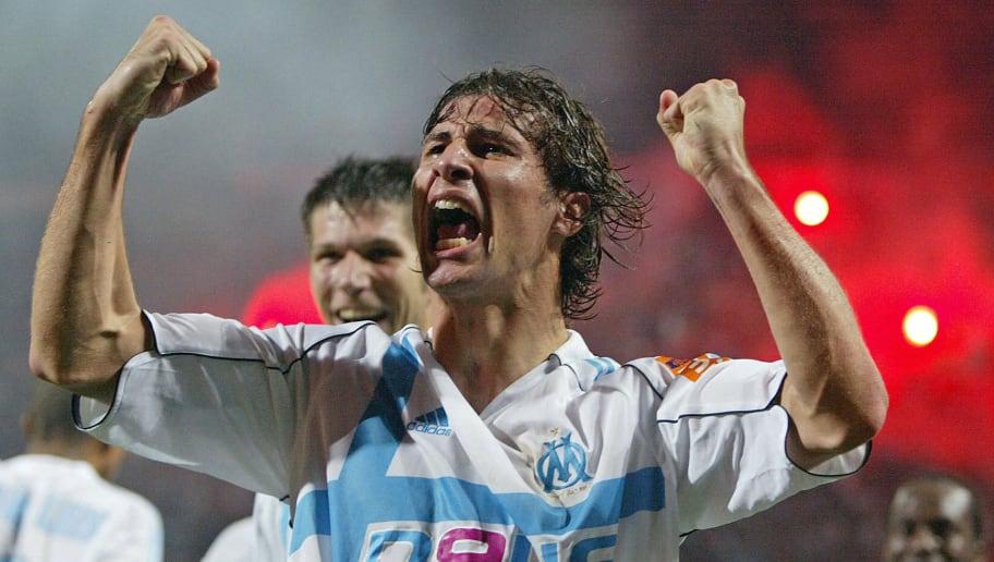 Olympique de Marseille's Albanian midfie