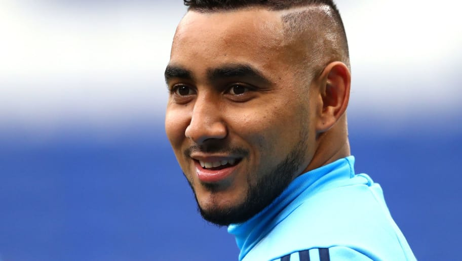 LYON, FRANCE - MAY 15:  Dimitri Payet of Marseille looks on during an Olympique de Marseille training session ahead of the the UEFA Europa League Final against Club Atletico de Madrid at Stade de Lyon on May 15, 2018 in Lyon, France.  (Photo by Michael Steele/Getty Images)