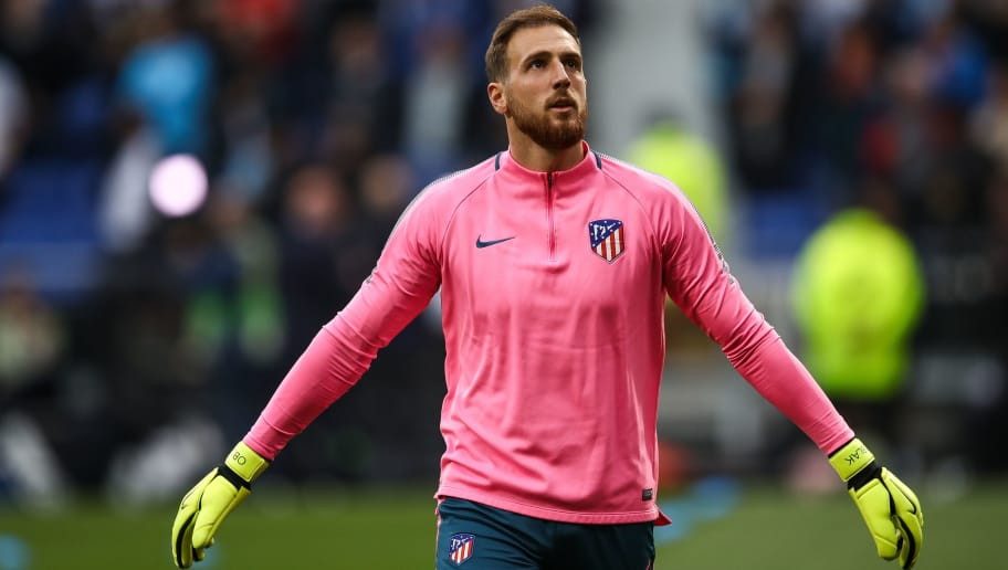 LYON, FRANCE - MAY 16: Jan Oblak #13 of Atletico Madrid warms up prior to the UEFA Europa League Final between Olympique de Marseille and Club Atletico de Madrid at Stade de Lyon on May 16, 2018 in Lyon, France. (Photo by Maja Hitij/Getty Images)