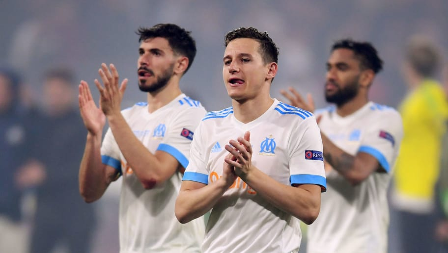 LYON, FRANCE - MAY 16:  Florian Thauvin of Marseille walks off dejected after the UEFA Europa League Final between Olympique de Marseille and Club Atletico de Madrid at Stade de Lyon on May 16, 2018 in Lyon, France.  (Photo by Laurence Griffiths/Getty Images)