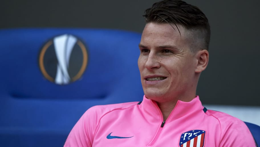 LYON, FRANCE - MAY 16:  Kevin Gameiro of Atletico de Madrid looks on prior to the UEFA Europa League Final between Olympique de Marseille and Club Atletico de Madrid at Stade de Lyon on May 16, 2018 in Lyon, France.  (Photo by Quality Sport Images/Getty Images)