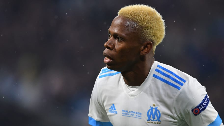 LYON, FRANCE - MAY 16: Clinton N'Jie of Olympique Marseille in action during the UEFA Europa League Final between Olympique de Marseille and Club Atletico de Madrid at Stade de Lyon on May 16, 2018 in Lyon, France. (Photo by Etsuo Hara/Getty Images)