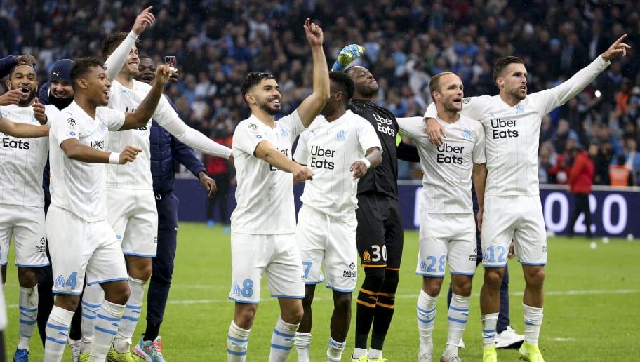 Boubacar Kamara,Morgan Sanson,Steve Mandanda,Valere Germain,Kevin Strootman