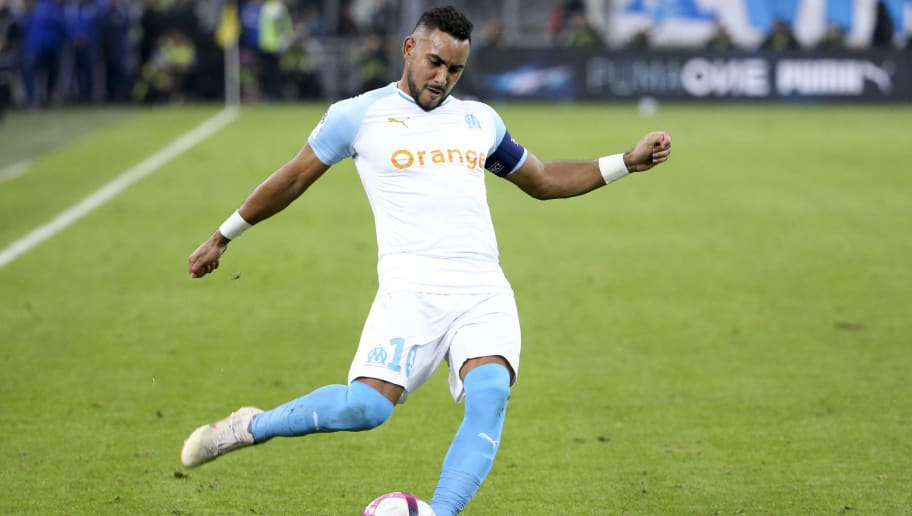 MARSEILLE, FRANCE - OCTOBER 28: Dimitri Payet of Marseille during the french Ligue 1 match between Olympique de Marseille (OM) and Paris Saint-Germain (PSG) at Stade Velodrome on October 28, 2018 in Marseille, France. (Photo by Jean Catuffe/Getty Images)