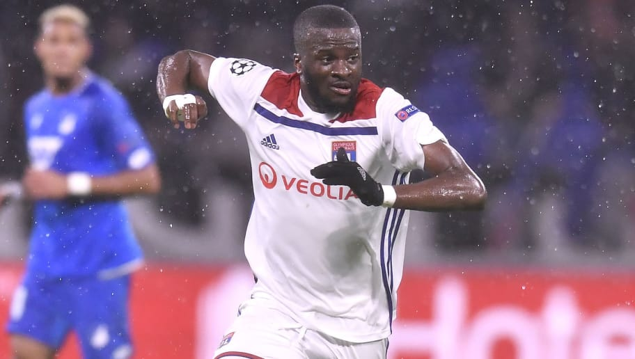 LYON, FRANCE - NOVEMBER 07:  Tanguy Ndombele of Olympique Lyonnais runs with the ball during the Group F match of the UEFA Champions League between Olympique Lyonnais and TSG 1899 Hoffenheim at Groupama Stadium on November 7, 2018 in Lyon, France.  (Photo by Aurelien Meunier/Getty Images)