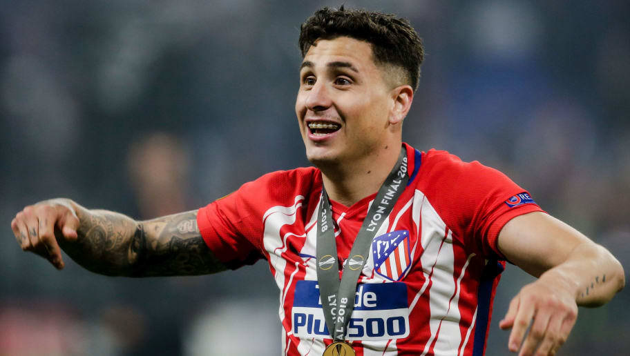 LYON, FRANCE - MAY 16: Jose Maria Gimenez of Atletico Madrid during the UEFA Europa League   match between Olympique Marseille v Atletico Madrid at the Parc Olympique Lyonnais on May 16, 2018 in Lyon France (Photo by Erwin Spek/Soccrates/Getty Images)