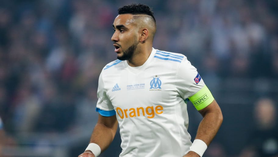 LYON, FRANCE - MAY 16: Dimitri Payet of Olympique Marseille during the UEFA Europa League   match between Olympique Marseille v Atletico Madrid at the Parc Olympique Lyonnais on May 16, 2018 in Lyon France (Photo by Erwin Spek/Soccrates/Getty Images)