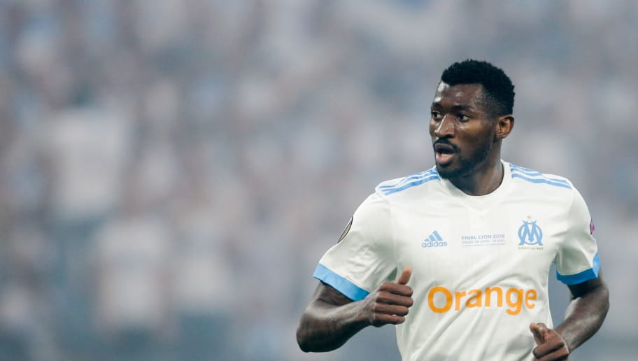 LYON, FRANCE - MAY 16: Andre Zambo Anguissa of Olympique Marseille during the UEFA Europa League   match between Olympique Marseille v Atletico Madrid at the Parc Olympique Lyonnais on May 16, 2018 in Lyon France (Photo by Erwin Spek/Soccrates/Getty Images)