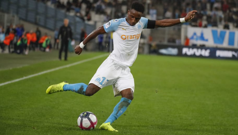 MARSEILLE, FRANCE - NOVEMBER 11:  Bouna Sarr  of Olympique de Marseille runs with the ball during the ligue 1 match between Olympique de Marseille  at Stade Velodrome on November 11, 2018 in Marseille, France.  (Photo by Guillaume Ruoppolo - OM/Getty Images)