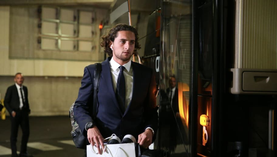 MARSEILLE, FRANCE - OCTOBER 28:  Adrien Rabiot of Paris Saint-Germain arrive at the stadium before the French Ligue 1 match between Olympique Marseille and Paris Saint-Germain on October 28, 2018 at Orange Velodrome in Marseille, France.  (Photo by Xavier Laine/Getty Images)