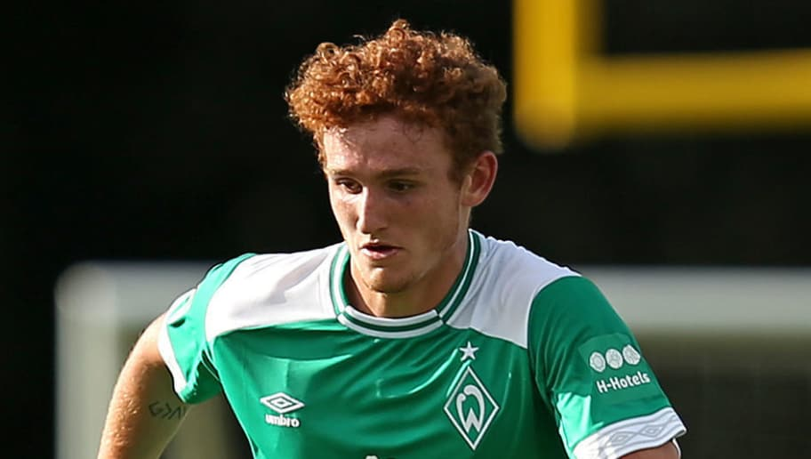 BREMERHAVEN, GERMANY - JULY 10: Josh Sargent of Werder Bremen controls the ball during the friendly match between OSC Bremerhaven and Werder Bremen on July 10, 2018 in Bremerhaven, Germany. (Photo by TF-Images/Getty Images)