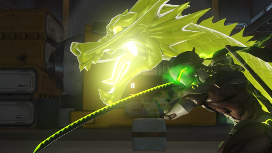 Genji player pulls off insane ultimate charge with Deflect.