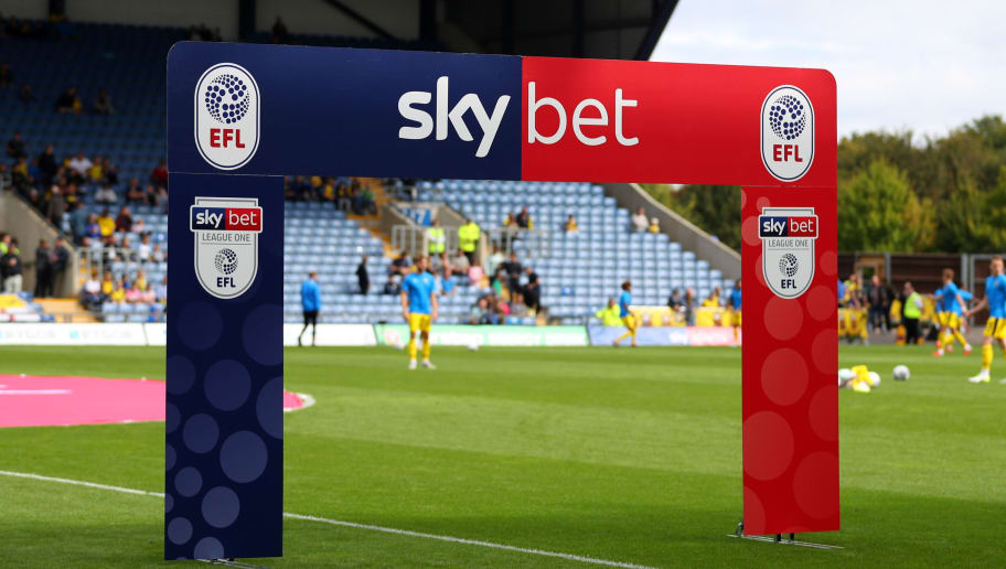 OXFORD, ENGLAND - SEPTEMBER 09: Detail view of the SkyBet League One arch before the Sky Bet League One match between Oxford United and Coventry City at Kassam Stadium on September 9, 2018 in Oxford, United Kingdom. (Photo by Catherine Ivill/Getty Images)