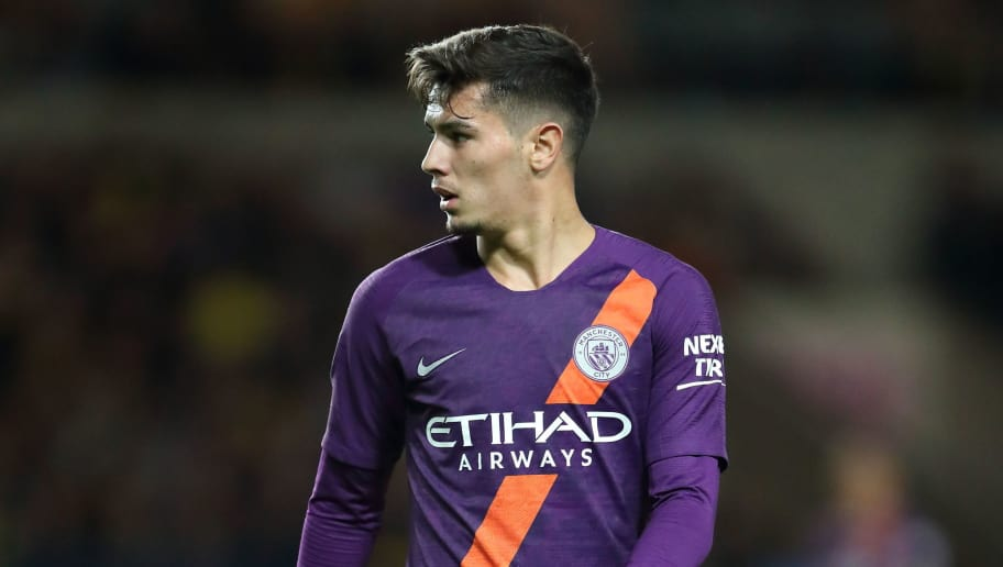 OXFORD, ENGLAND - SEPTEMBER 25: Brahim Diaz of Manchester City during the Carabao Cup Third Round match between Oxford United and Manchester City at Kassam Stadium on September 25, 2018 in Oxford, England. (Photo by James Williamson - AMA/Getty Images)