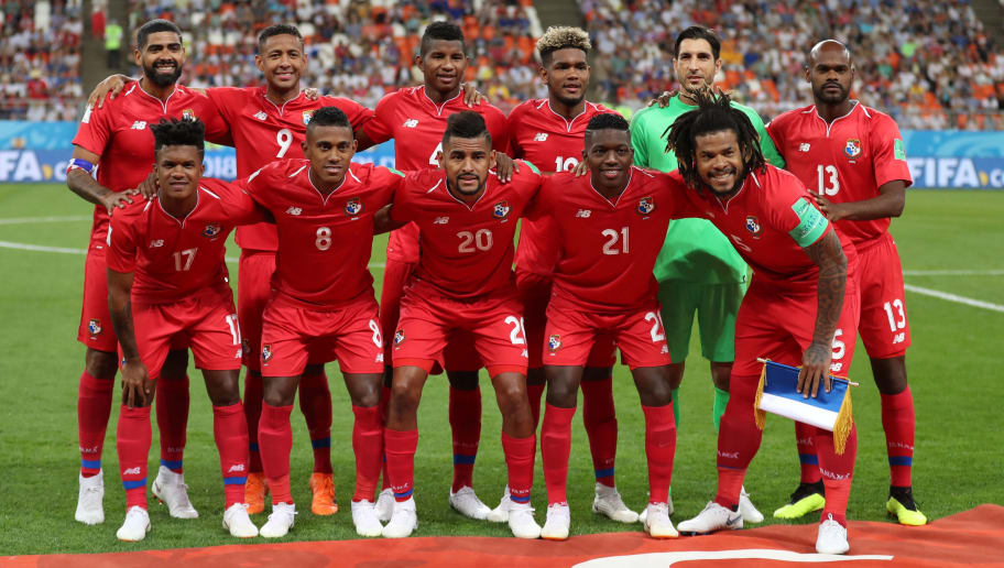 SARANSK, RUSSIA - JUNE 28: Panama team group photo during the 2018 FIFA World Cup Russia group G match between Panama and Tunisia at Mordovia Arena on June 28, 2018 in Saransk, Russia. (Photo by Catherine Ivill/Getty Images)