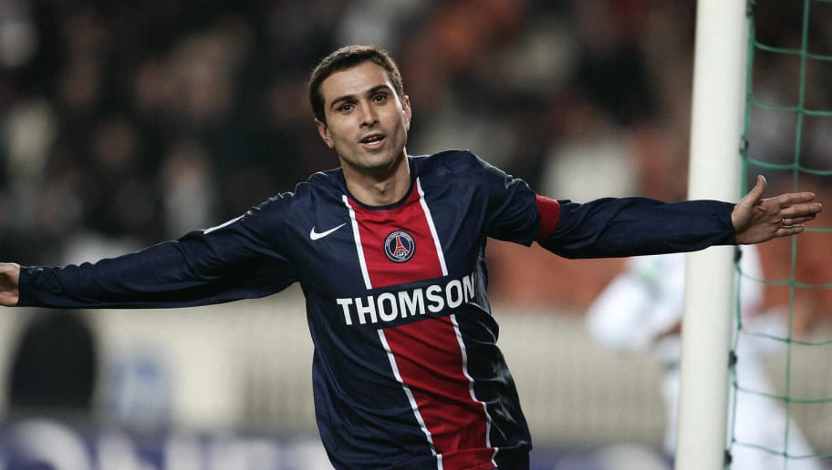 Paris's forward Portuguese Pauleta jubil