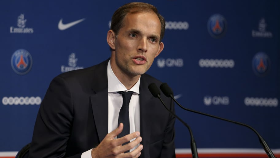 PARIS, FRANCE - MAY 20: Thomas Tuchel of Germany is presented as new coach of Paris Saint-Germain (PSG) during a press conference at Parc des Princes stadium on May 20, 2018 in Paris, France. (Photo by Jean Catuffe/Getty Images)
