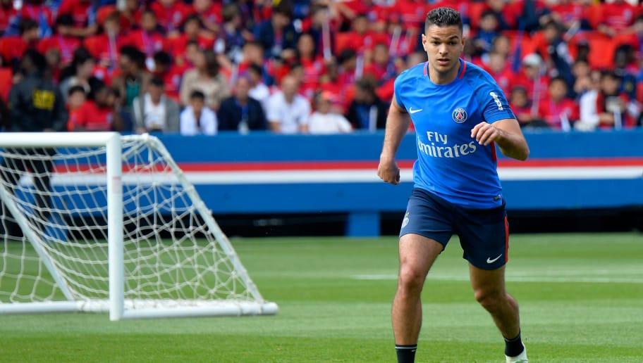 PARIS, FRANCE - MAY 16:  Hatem Ben Arfa runs with ball during a Paris Saint-Germain training session at Parc des Princes on May 16, 2018 in Paris, France.  (Photo by Aurelien Meunier/Getty Images)
