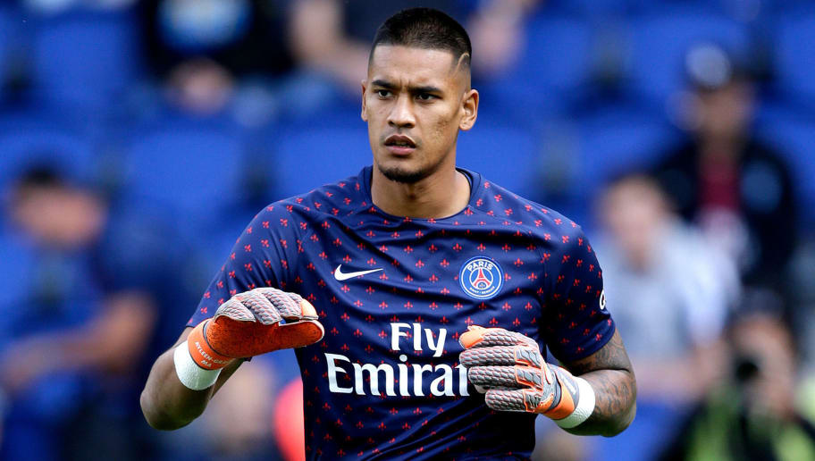 PARIS, FRANCE - AUGUST 25: Alphonse Areola of Paris Saint Germain  during the French League 1  match between Paris Saint Germain v Angers at the Parc des Princes on August 25, 2018 in Paris France (Photo by Jeroen Meuwsen/Soccrates/Getty Images)