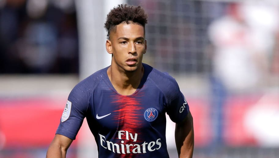 PARIS, FRANCE - AUGUST 25: Thilo Kehrer of Paris Saint Germain  during the French League 1  match between Paris Saint Germain v Angers at the Parc des Princes on August 25, 2018 in Paris France (Photo by Jeroen Meuwsen/Soccrates/Getty Images)