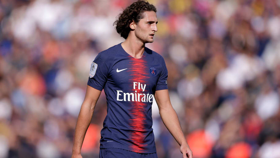 PARIS, FRANCE - AUGUST 25: Adrien Rabiot of Paris Saint Germain  during the French League 1  match between Paris Saint Germain v Angers at the Parc des Princes on August 25, 2018 in Paris France (Photo by Jeroen Meuwsen/Soccrates/Getty Images)