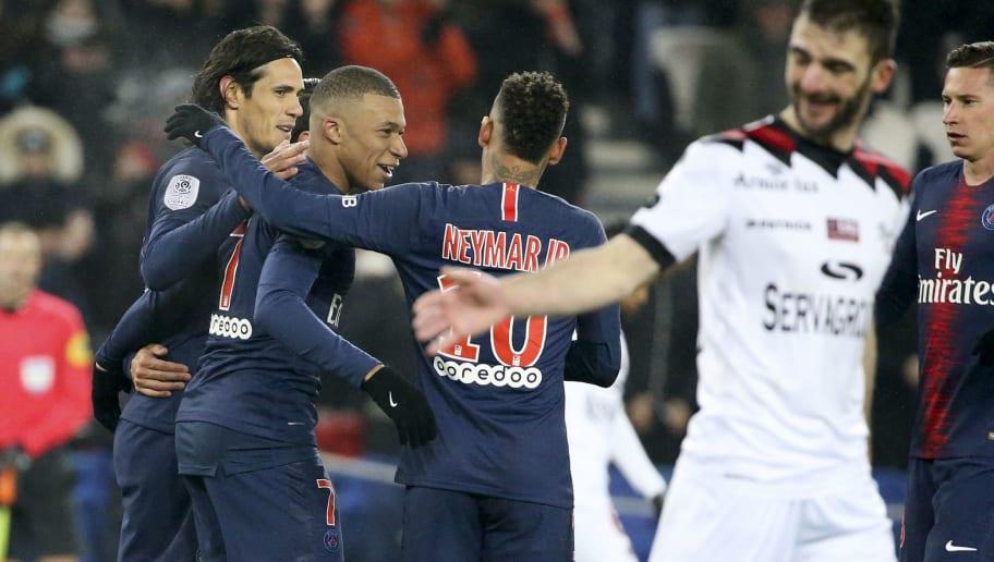 Kylian Mbappe,Edinson Cavani,Neymar Jr,Julian Draxler