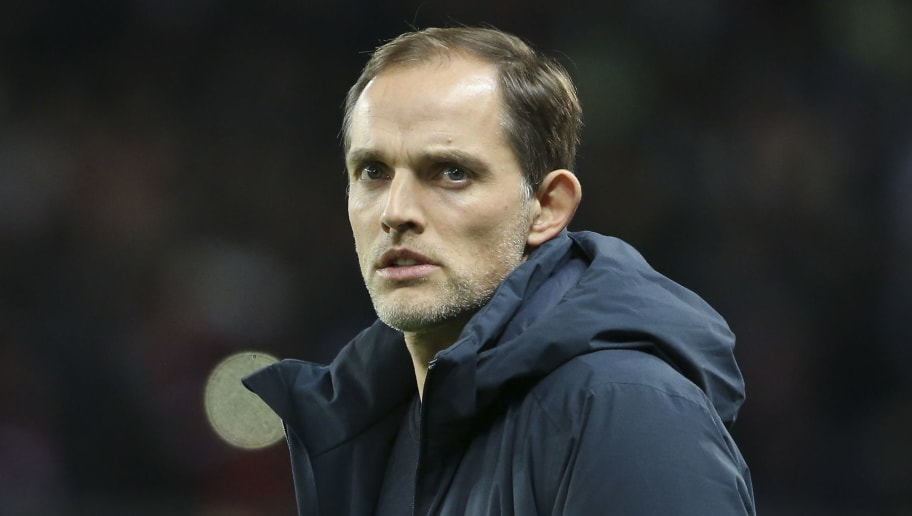 PARIS, FRANCE - DECEMBER 22: Coach of PSG Thomas Tuchel during the french Ligue 1 match between Paris Saint-Germain (PSG) and FC Nantes at Parc des Princes stadium on December 22, 2018 in Paris, France. (Photo by Jean Catuffe/Getty Images)