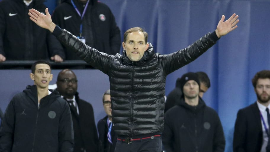 PARIS, FRANCE - NOVEMBER 28: Coach of PSG Thomas Tuchel during the UEFA Champions League Group C match between Paris Saint-Germain (PSG) and Liverpool FC at Parc des Princes stadium on November 28, 2018 in Paris, France. (Photo by Jean Catuffe/Getty Images)