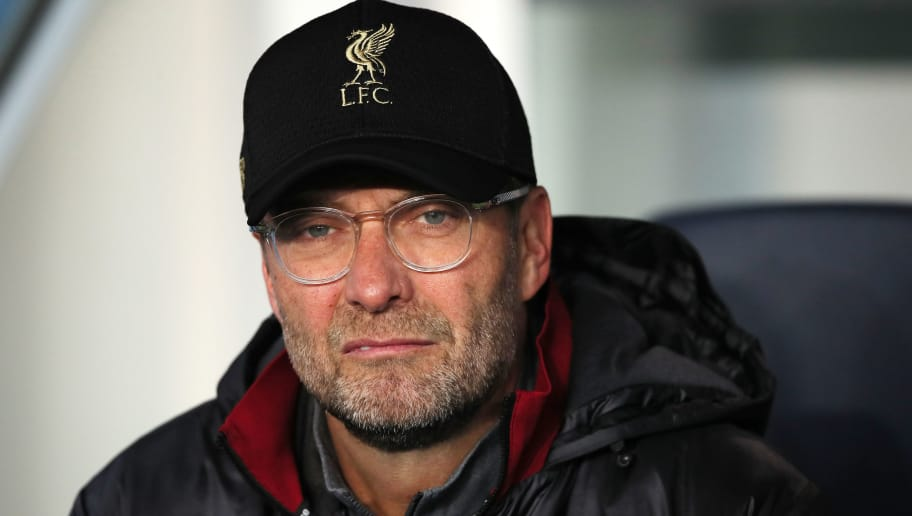 PARIS, FRANCE - NOVEMBER 28:  Liverpool Head Coach / Manager Jurgen Klopp looks on prior to the Group C match of the UEFA Champions League between Paris Saint-Germain and Liverpool at Parc des Princes on November 28, 2018 in Paris, France. (Photo by Matthew Ashton - AMA/Getty Images)