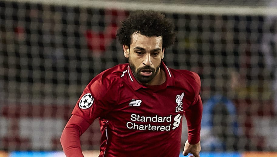 PARIS, FRANCE - NOVEMBER 28: Mohamed Salah of Liverpool  runs with the ball during the Group C match of the UEFA Champions League between Paris Saint-Germain and Liverpool at Parc des Princes on November 28, 2018 in Paris, France. (Photo by Quality Sport Images/Getty Images)