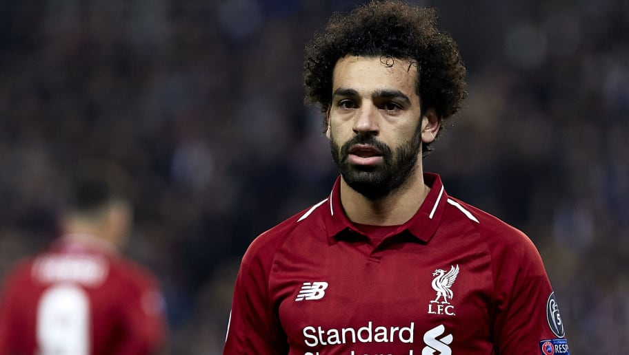 PARIS, FRANCE - NOVEMBER 28: Mohamed Salah of Liverpool looks on during the Group C match of the UEFA Champions League between Paris Saint-Germain and Liverpool at Parc des Princes on November 28, 2018 in Paris, France. (Photo by Quality Sport Images/Getty Images)