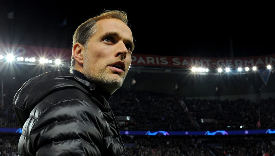 PARIS, FRANCE - NOVEMBER 28: Thomas Tuchel head coach / manager of PSG during the Group C match of the UEFA Champions League between Paris Saint-Germain and Liverpool at Parc des Princes on November 28, 2018 in Paris, France. (Photo by Harriet Lander/Copa/Getty Images)
