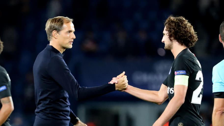 Image result for Thomas Tuchel with Adrien Rabiot