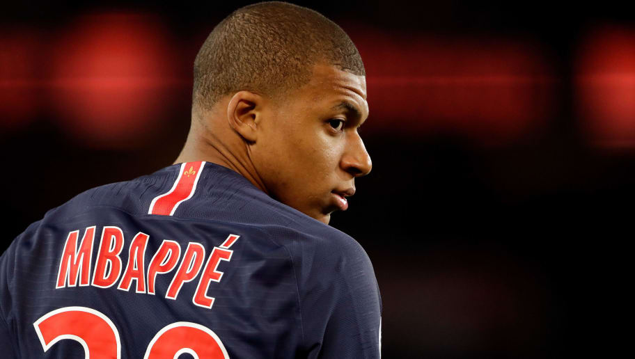PARIS, FRANCE - MAY 12: Kylian Mbappe of Paris Saint Germain  during the French League 1  match between Paris Saint Germain v Rennes at the Parc des Princes on May 12, 2018 in Paris France (Photo by Cees van Hoogdalem/Soccrates/Getty Images)