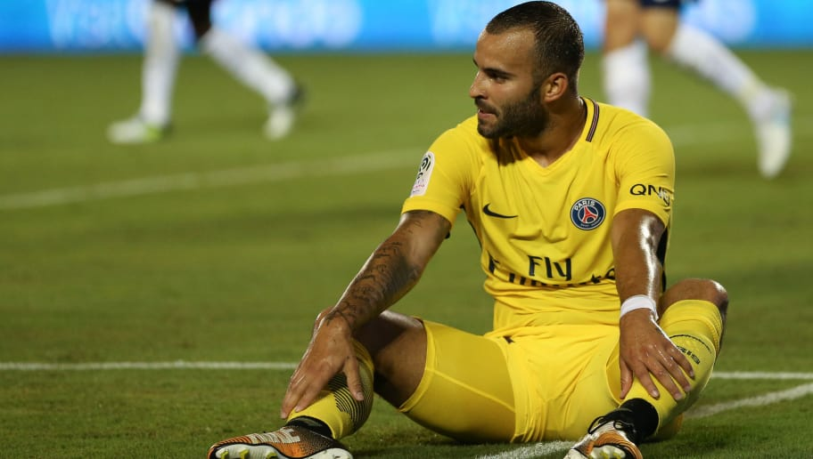 ORLANDO, FL - JULY 22: Jese of Paris Saint-Germain reacts during the International Champions Cup match between Paris Saint-Germain and Tottenham Hotspur on July 22, 2017 in Orlando, United States. (Photo by Robbie Jay Barratt - AMA/Getty Images)