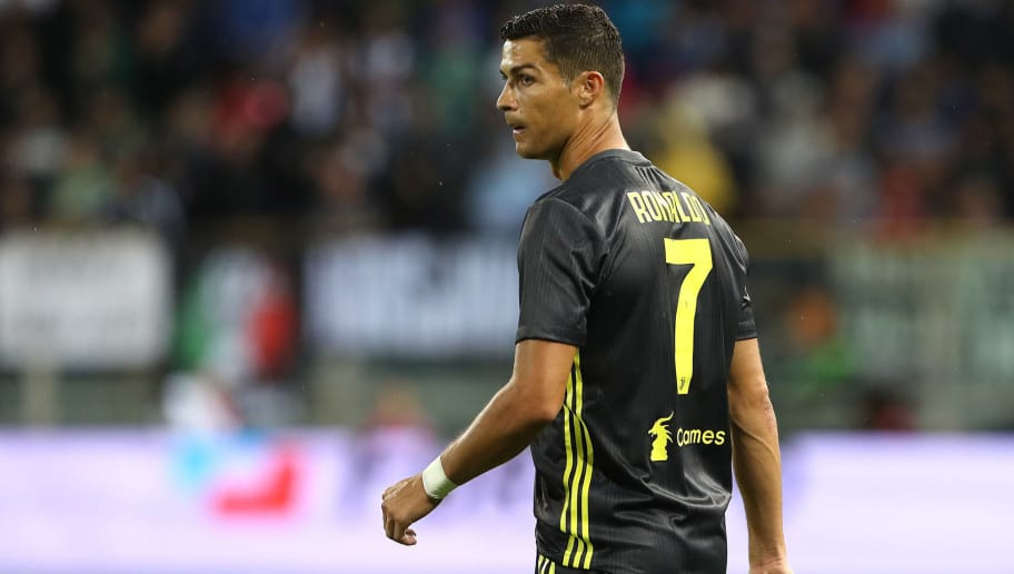 PARMA, ITALY - SEPTEMBER 01:  Cristiano Ronaldo of Juventus looks on during the serie A match between Parma Calcio and Juventus at Stadio Ennio Tardini on September 1, 2018 in Parma, Italy.  (Photo by Marco Luzzani/Getty Images)
