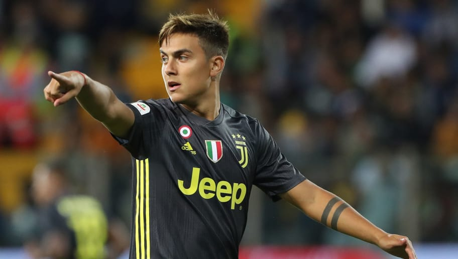 PARMA, ITALY - SEPTEMBER 01:  Paulo Dybala of Juventus gestures during the serie A match between Parma Calcio and Juventus at Stadio Ennio Tardini on September 1, 2018 in Parma, Italy.  (Photo by Marco Luzzani/Getty Images)