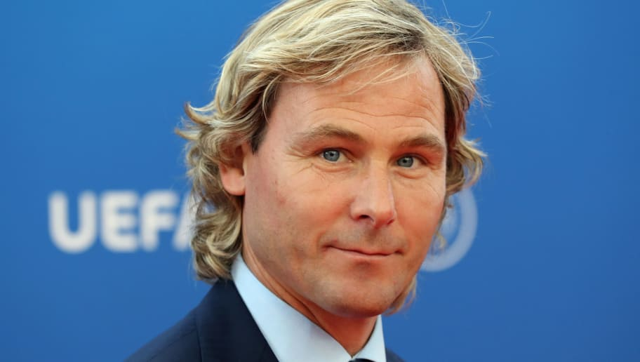 Czech Republic's former player and Juventus' vice-president Pavel Nedved arrives to attend the draw for UEFA Champions League football tournament at The Grimaldi Forum in Monaco on August 30, 2018. (Photo by Valery HACHE / AFP)        (Photo credit should read VALERY HACHE/AFP/Getty Images)